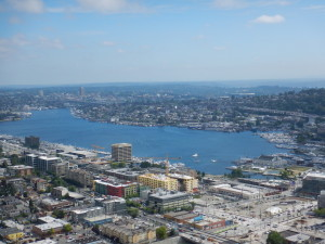 Lake Union from the Space Needle