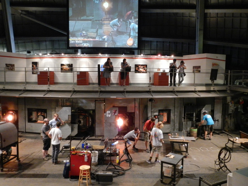 Glass blowing at the Hot Shop