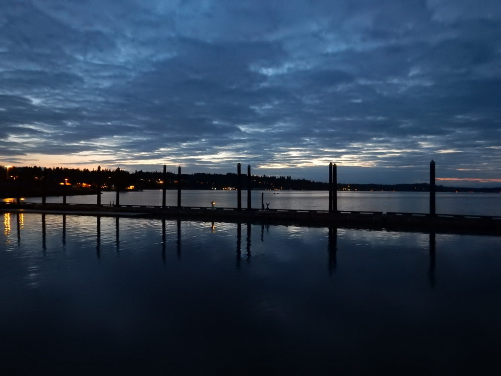 Beautiful Blue skies at sunset