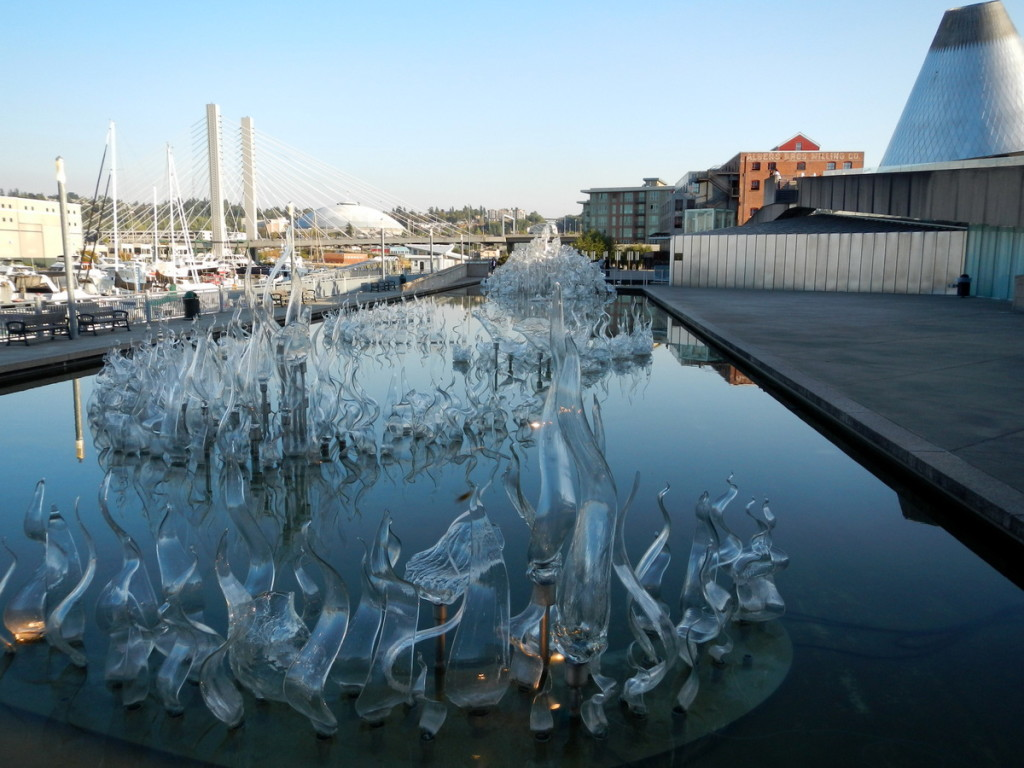 Entrance to the Glass Museum in Tacoma