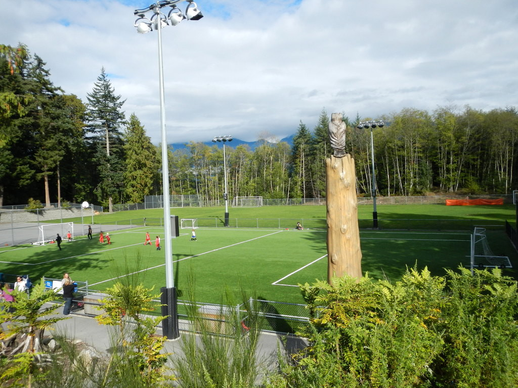 A local school soccer field! What a view!