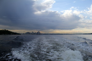 Leaving Seattle behind in our wake
