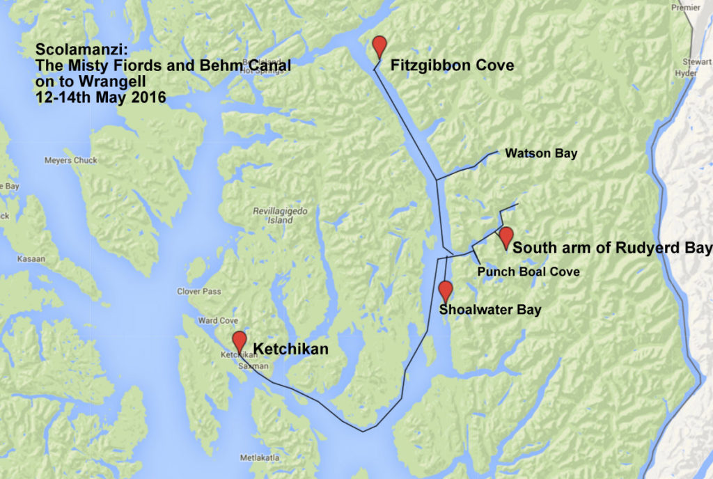 Scolamanzi: The Misty Fiords and Behm Canal 12-14th May 2016