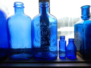 Medicine bottles from 80 years ago