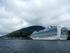 Cruise Ship arriving at Ketchikan