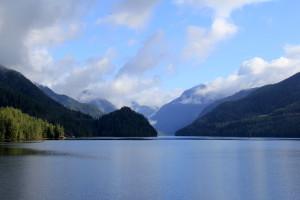 Beautiful calmness all the way along Ocean Falls Fjord