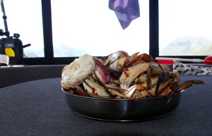 A feast of Dungenous crabs from our own crab traps