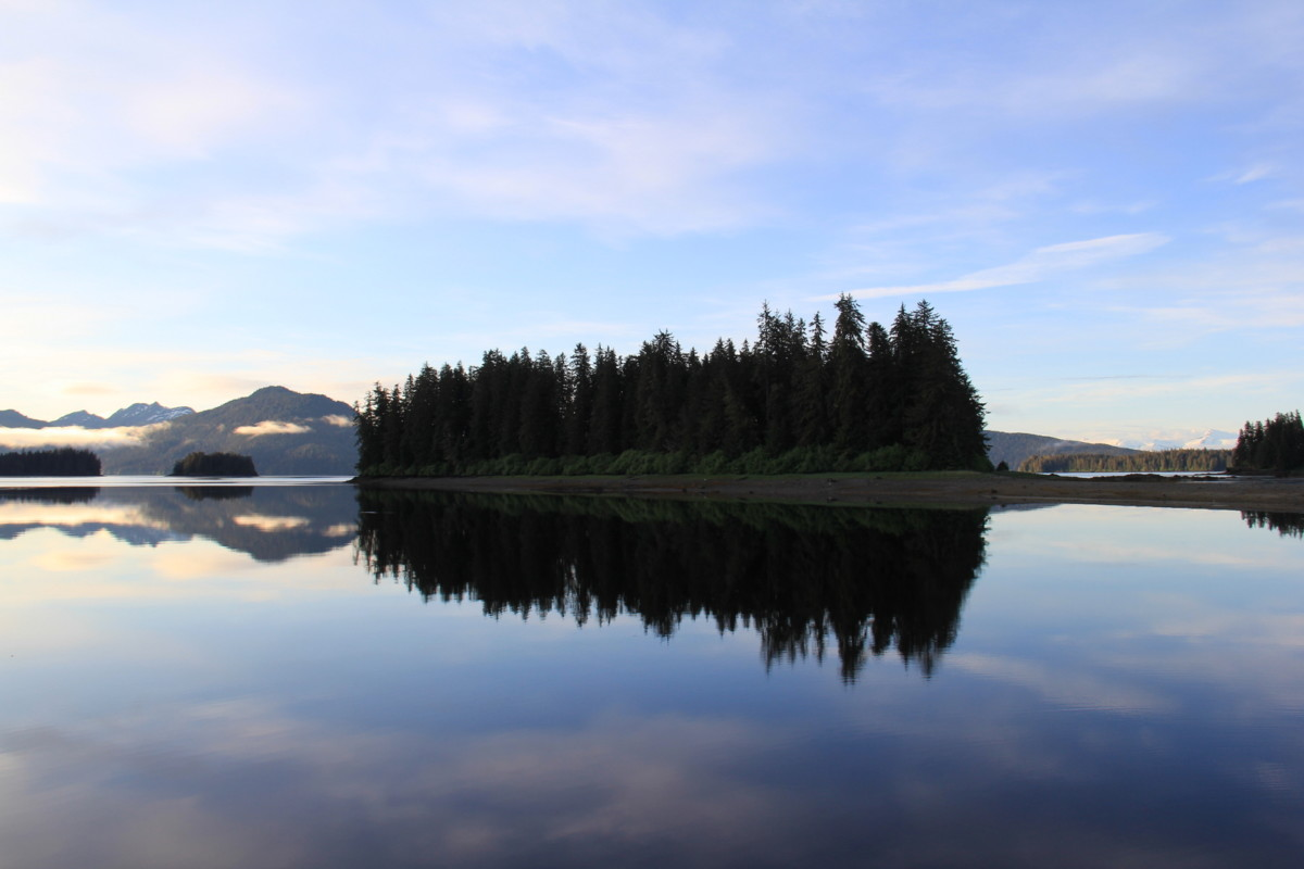 Late afternoon reflections in Gambier Bay