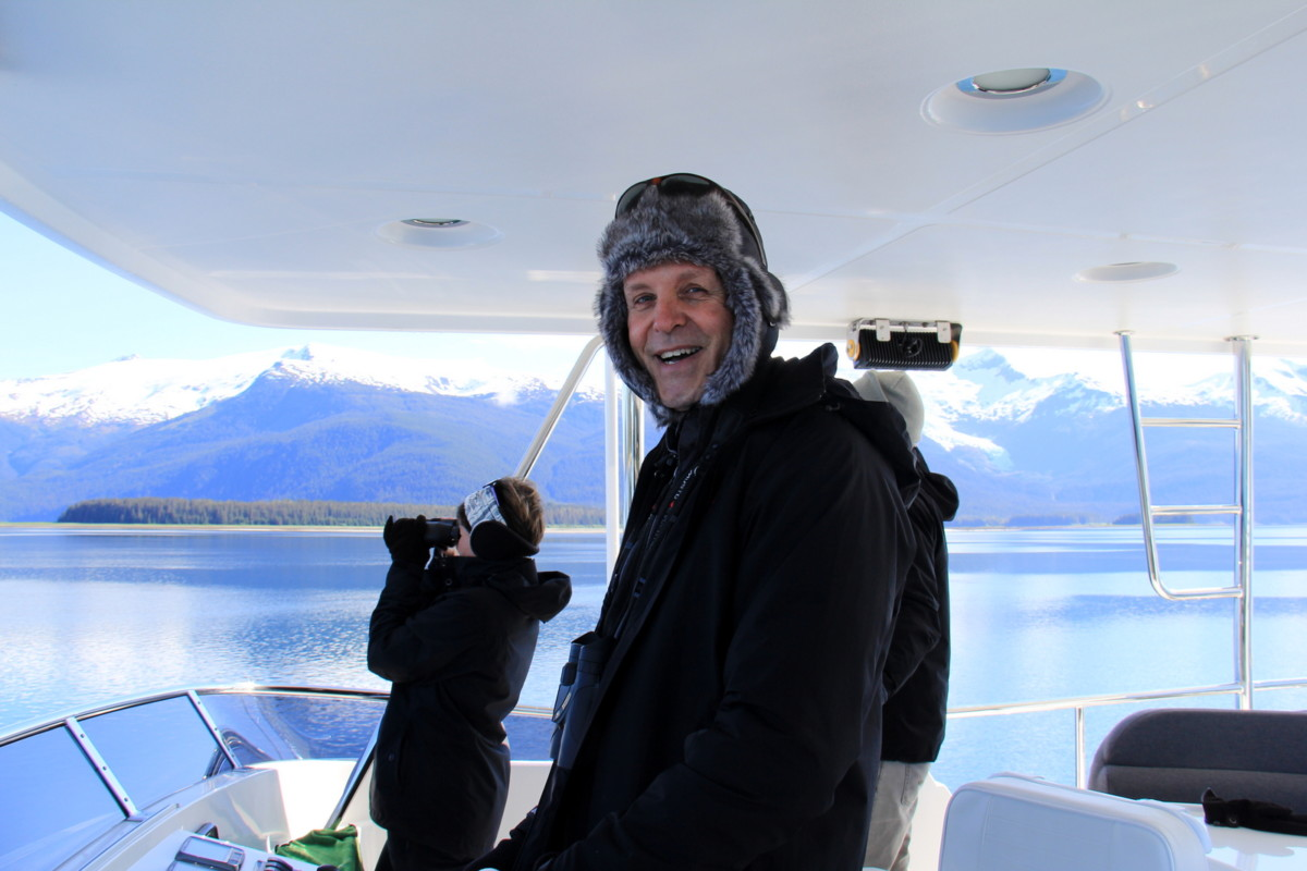 The Captain in his Alaskan disguise