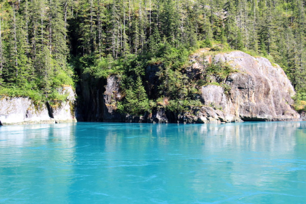 Beautiful turquoise waters at  Ford's Terror