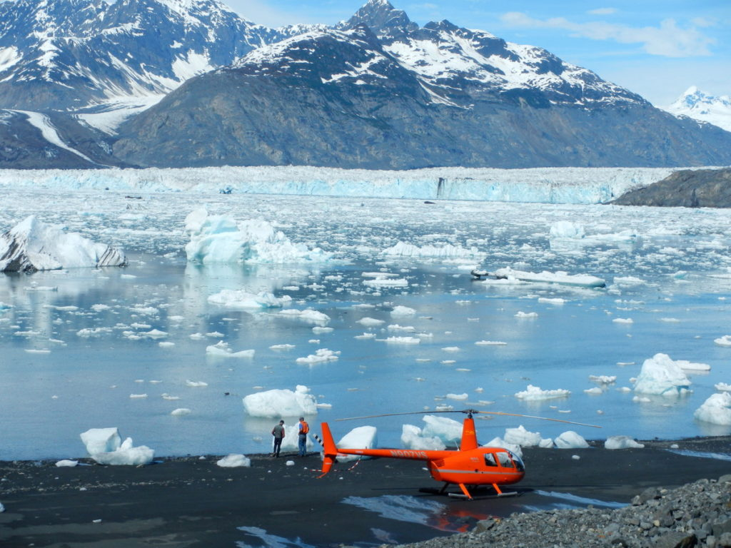 Landed near Columbia glacier