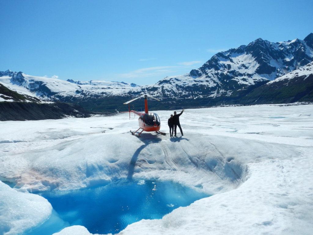 Landed on Shoup Glacier