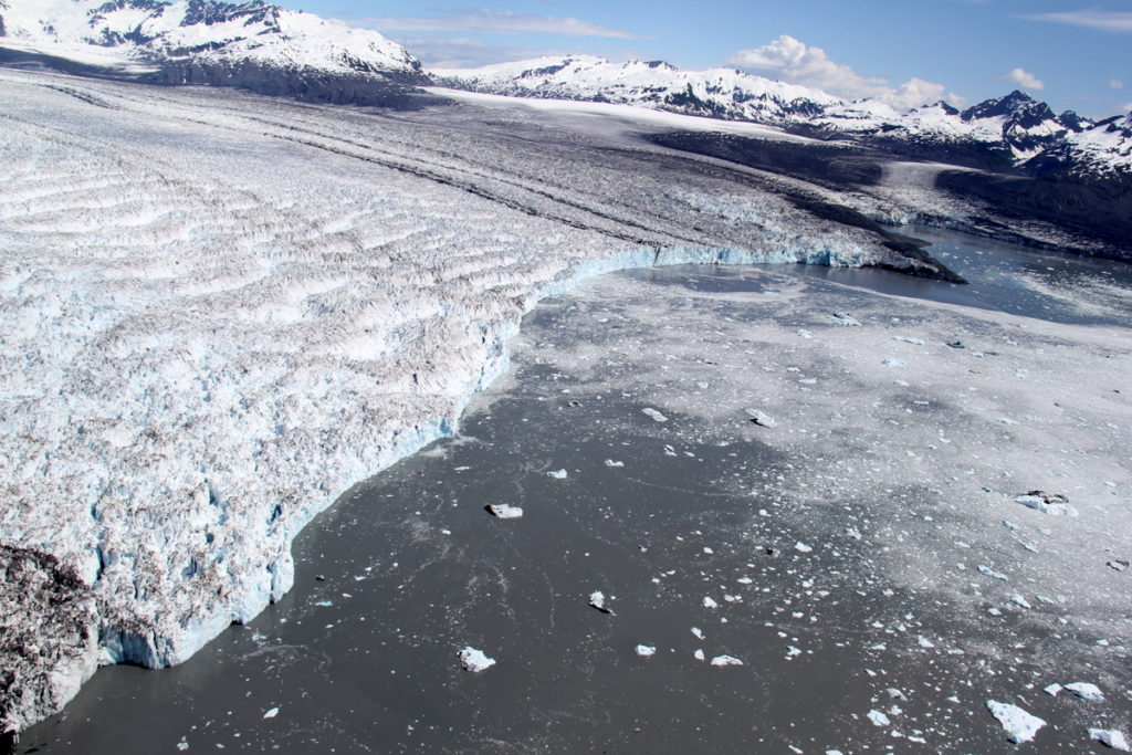 Huge face of Columbia Glacier