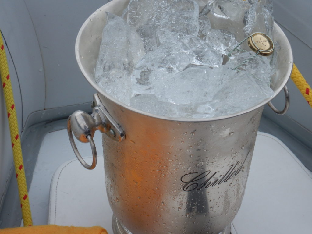 Glacial Ice for the sundowner drinks