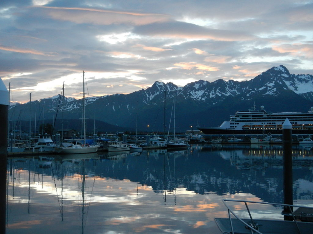 The morning we left Seward's small boat harbour
