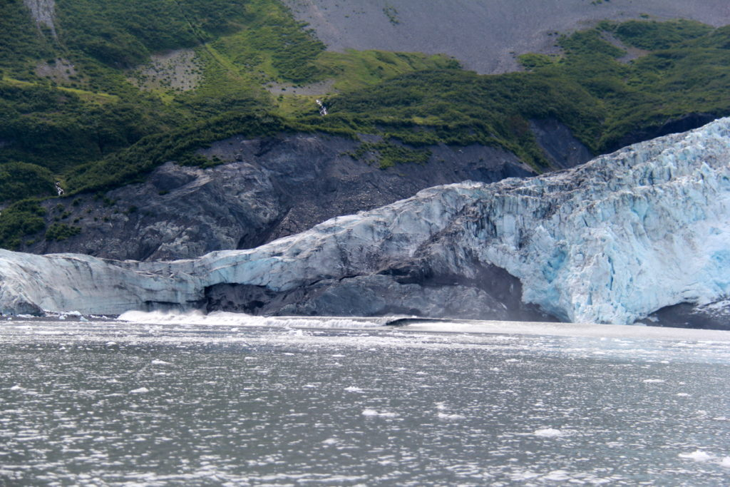 "The ""tsunami "" /wave after a massive calving at Aialik glacier"