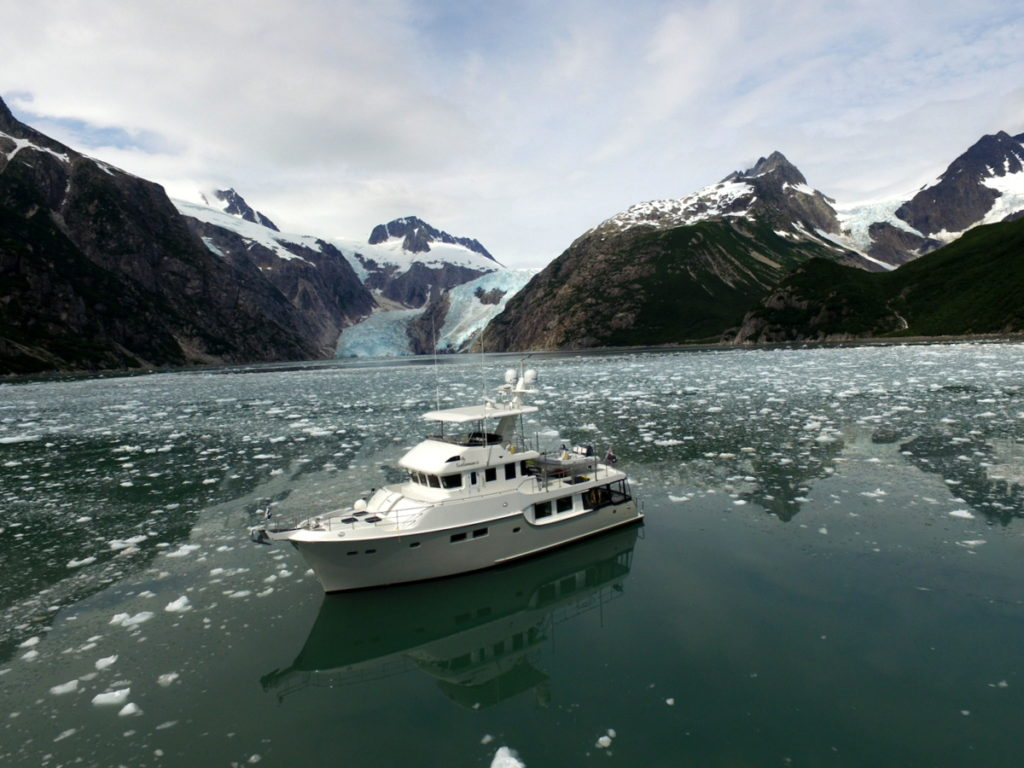 Scolamanzi at the entrance of NW Fjord and  North West Glacier
