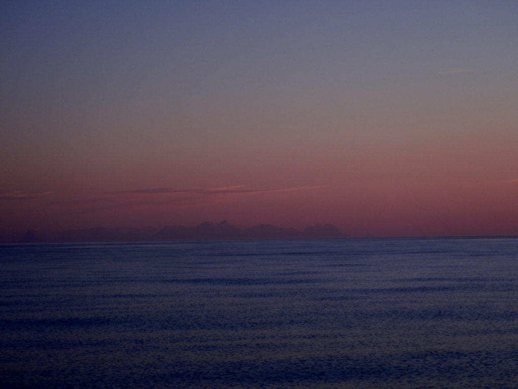 Barren Islands on the horizon