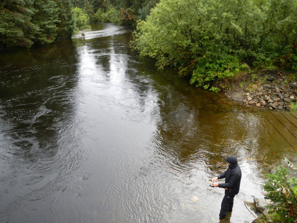 Johann fishing at 9 mile bridge in the S??? river