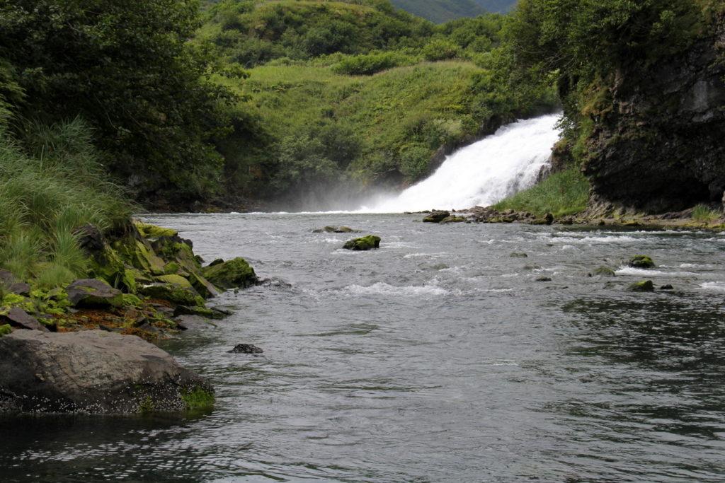 Waterfall at Kukak Bay