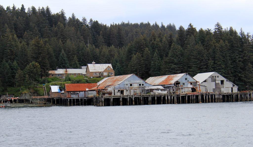 Deserted cannery in Shuyak strait