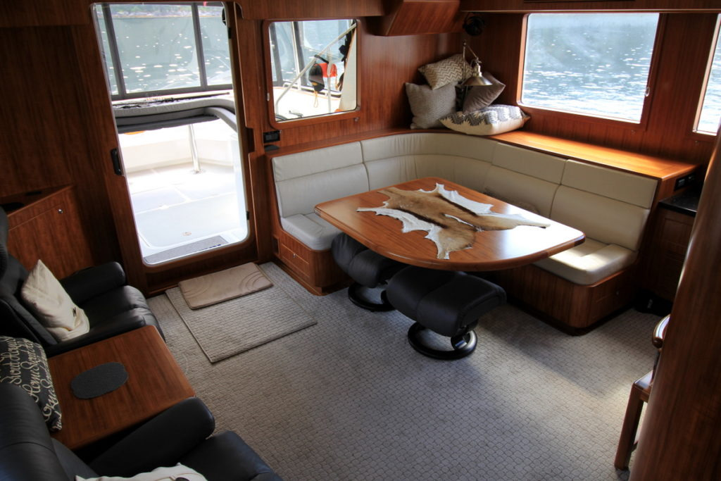 This is the bare saloon while we are doing a crossing