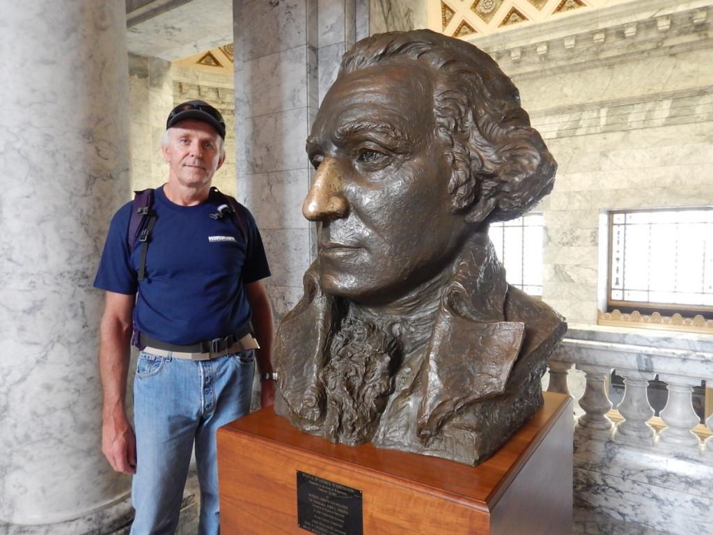 Johann with George Washington