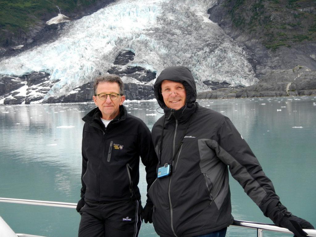 Johann and Reyno at Harriman Glacier