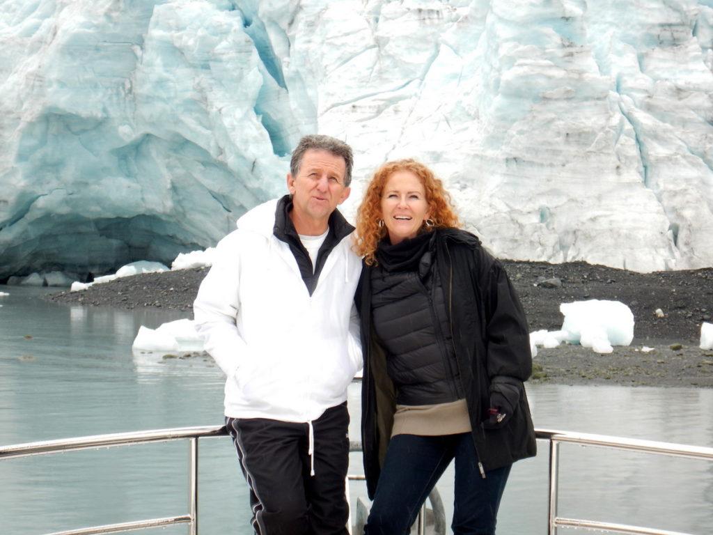 Laura and Reyno at Harriman Glacier